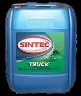 SINTEC TRUCK SAE 15W-40 API CI-4/SL минеральное