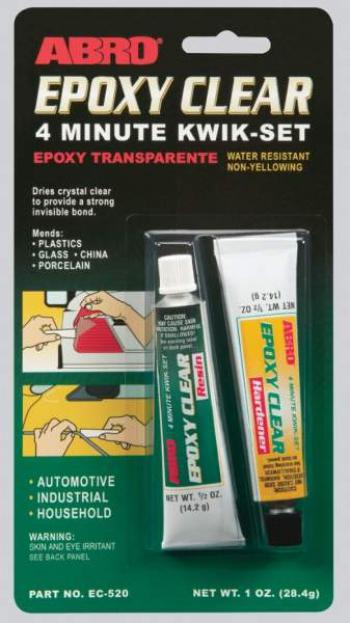 Эпоксидный клей прозрачный авто ABRO EC-520