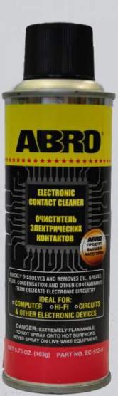 Очиститель электрических и электронных контактов ABRO EC-533