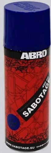 Краска-спрей ABRO ® SABOTAGE 4 (черный матовый)