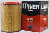Фильтр воздушный  LINNER LA 103 Газель (дв.ЗМЗ-406-инж.), ГАЗ-560 Штайер
