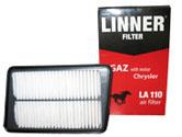 Фильтр воздушный  LINNER LA 110 ГАЗ 31105 с дв.Chrysler 2,4 L-DOCH