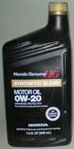 Honda HG Syntblend SN 0w20